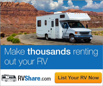 Make thousands renting our your RV on RVShare.com